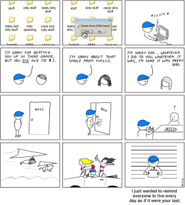 Abstruse goose comic, used thorugh creative commons BY-NC licence