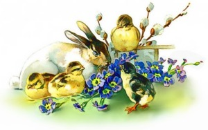 bunny_chicks_flowers_Easter